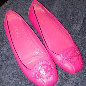Pink Michael Kors flats